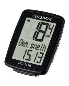Sigma BC7.16 Fietscomputer Bedraad