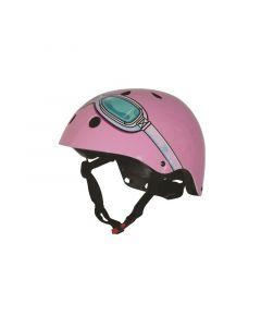 Kiddimoto fietshelm Pink Goggle