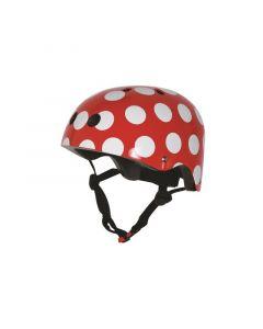 Kiddimoto helm red dotty medium