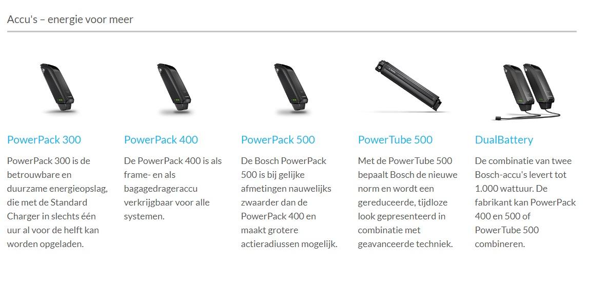 Bosch e-bike info accu batterij