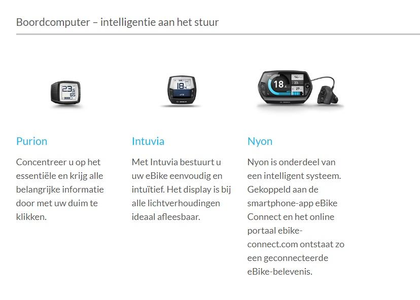 Bosch e-bike info bediening displays